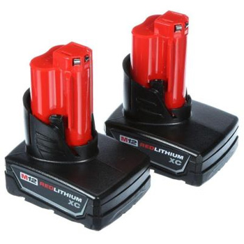 Milwaukee 48-11-2412 M12 12-Volt Lithium-Ion XC High Capacity Battery (2-Pack)