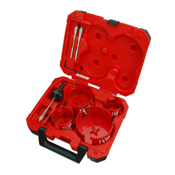 Milwaukee 49-56-9080 8-PC Big Hawg Hole Cutter Plumber's Kit