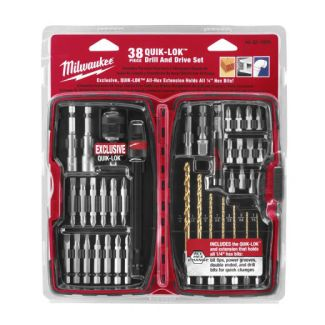 Milwaukee 48-32-1500 38 Piece Quik-Lok Drill and Drive Set