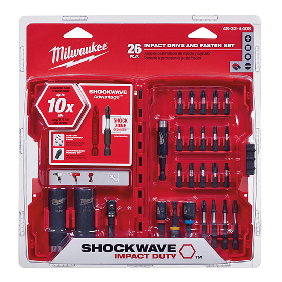 Milwaukee 48-32-4408 Shockwave Drive and Fasten Set (26PC)