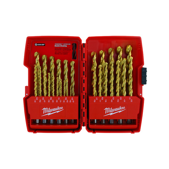 Milwaukee 48-89-0012 Thunderbolt Titanium Coated Drill Bits (29 PC)