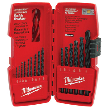 Milwaukee Tools 48-89-2803 Thunderbolt Black Oxide Drill Bit Set (15 PC)