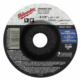 Milwaukee 49-94-4520 Grinding Wheel 4-1/2 in. x 1/4 in. x 7/8 in