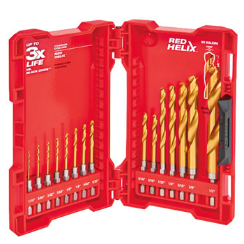 Milwaukee 48-89-4630 Kit 15 Piece TiN Shockwave Drill Kit