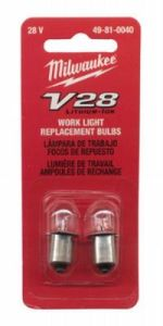 Milwaukee 49-81-0040 V28 2-Pack Work Light Replacement Bulbs