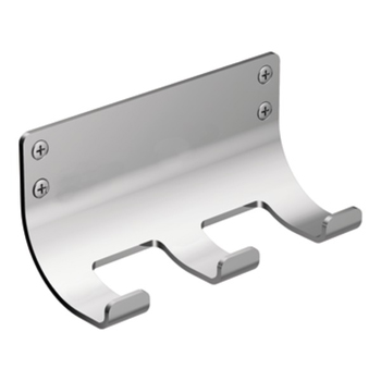 Moen DN6403 Creative Specialties Viq Collection Three Hook Robe Hook - Chrome