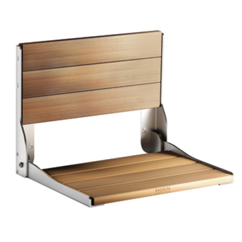 Moen DN7110 Creative Specialties Wall Mounted Fold Down Shower Seat - Wood