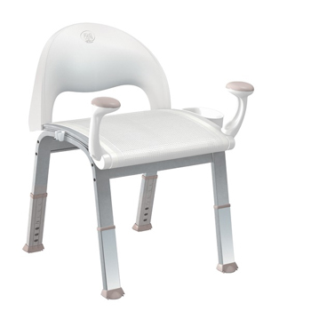 Moen DN7100 Creative Specialties Home Care Premium Shower Chair - Glacier