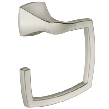 Moen YB5186BN Creative Specialties Voss Collection Towel Ring - Brushed Nickel