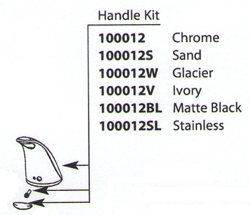 Moen 100012BL Extensa Replacement Handle Kit Matte Black