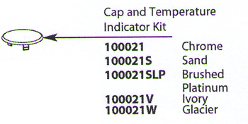 Moen 100021 Chateau Replacement Cap & Temperature Indicator Kit Chrome