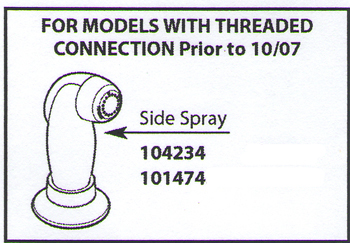 Moen 101474W Protege Spray Head & Hose Assembly White
