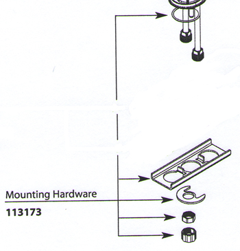 Moen 113173 Replacement Mounting Hardware