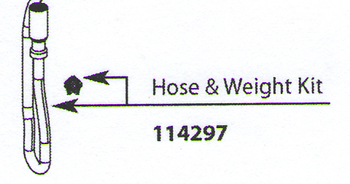 Moen 114297 Aberdeen Replacement Hose and Weight Kit