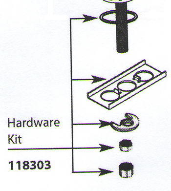 Moen 118303 Replacement Hardware Kit