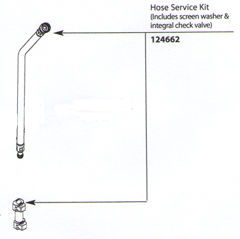 Moen 124662 Replacement Hose Service Kit
