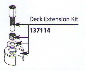 Moen 137114 Replacement Deck Extension Kit
