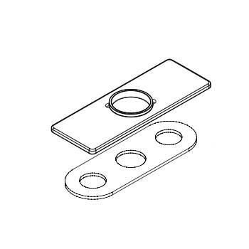 Moen 147204BN Escutcheon & Gasket Kit - Brushed Nickel