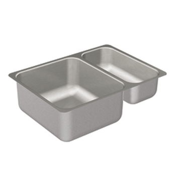 Moen 22239 Camelot Double Bowl Undermount Stainless Steel Kitchen Sink