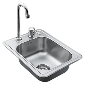 Moen 22245 Camelot Self-Rimming Single Bowl Stainless Steel Bar Sink