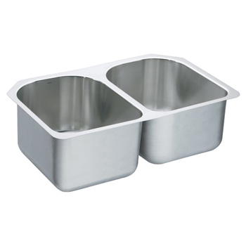 Moen 22392 Lancelot Double Bowl Undermount Stainless Steel Kitchen Sink