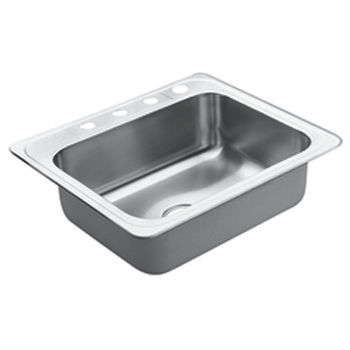 Moen 22832 Excalibur Self-Rimming Single Bowl Stainless Steel Kitchen Sink