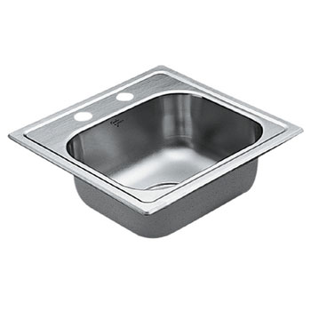 Moen 22856 Excalibur Self-Rimming Single Bowl Stainless Steel Bar Sink