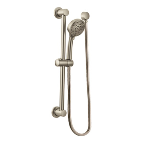 Moen 3669EPBN 4 Function Massaging Handshower with Slide Bar - Brushed Nickel