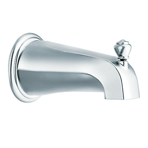 Moen 3807 Monticello Diverter Tub Spout Chrome, Slip Fit
