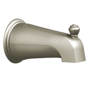 Moen 3807BN Monticello Diverter Tub Spout Brushed Nickel, Slip Fit