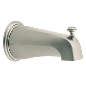 Moen 3808AN Kingsley Diverter Tub Spout Antique Nickel, Slip Fit