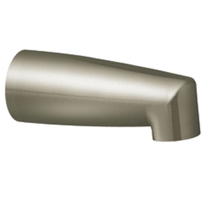 Moen 3829BN Non-Diverter Tub Spout Brushed Nickel, Slip Fit