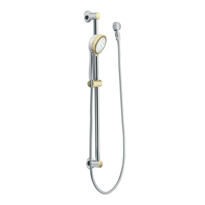 Moen 3867CP Four Function Massaging Handshower with Slide Bar Chrome/Polished Brass