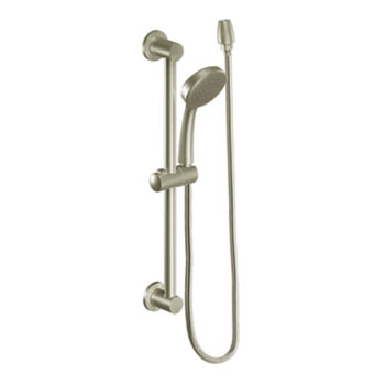 Moen 3868BN Single Function Hand Shower with Slide Bar - Brushed Nickel
