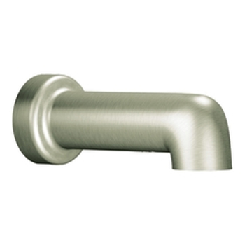 Moen 3892BN Level Non-Diverter Tub Spout Brushed Nickel, Slip Fit