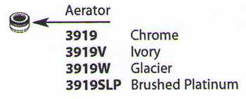 Moen 3919W Replacement Aerator Glacier