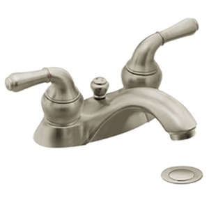 Moen 4551BN Monticello Two-Handle Centerset Lavatory Faucet Brushed Nickel