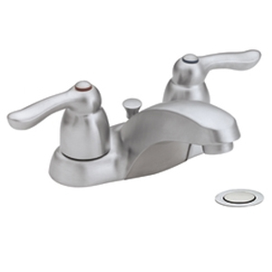 Moen 4925BC Chateau Two-Handle Centerset Lavatory Faucet Brushed Chrome