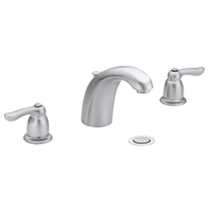 Moen 4945BC Chateau Two Handle Widespread Lavatory Faucet Brushed Chrome