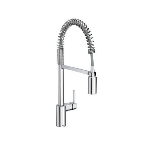 Moen 5923 Align Single Handle Pre-Rinse Spring Pulldown Kitchen Faucet - Chrome