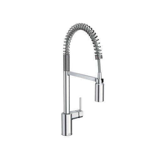 Moen 5923srs Align Single Handle Pre Rinse Spring Pulldown Kitchen Faucet Spot Resist Stainless