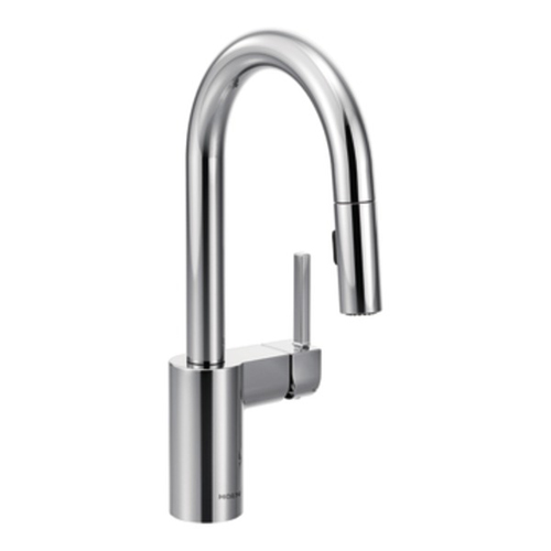 Moen 5965 Align Single Handle High Arc Pulldown Bar Faucet - Chrome