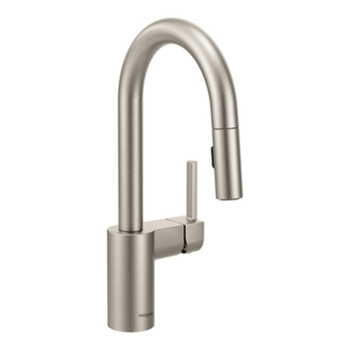 Moen 5965SRS Align Single Handle High Arc Pulldown Bar Faucet - Spot Resist Stainless