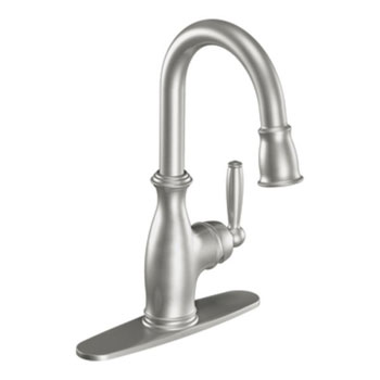 Moen 5985CSL Brantford Single Handle High Arc Pulldown Single Mount Bar Faucet - Stainless