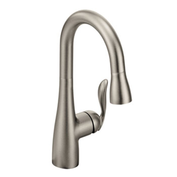 Moen 5995SRS Arbor Single-Handle High Arc Pulldown Bar Faucet - Spot Resist Stainless