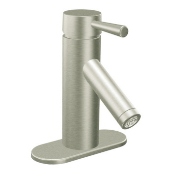 Moen 6100BN Level Single Handle Lavatory Faucet Brushed Nickel