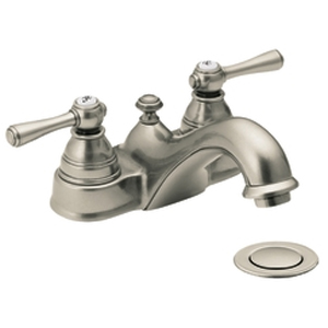 Moen 6101AN Kingsley Two-Handle Centerset Lavatory Faucet Antique Nickel