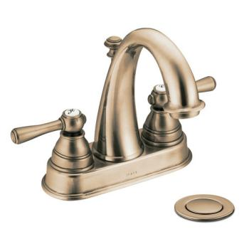 Moen 6121AZ Kingsley Two-Handle Centerset Lavatory Faucet Antique Bronze