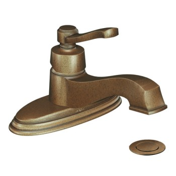 Moen 6202AZ Rothbury Single Handle Low Arc Lavatory Faucet Antique Bronze