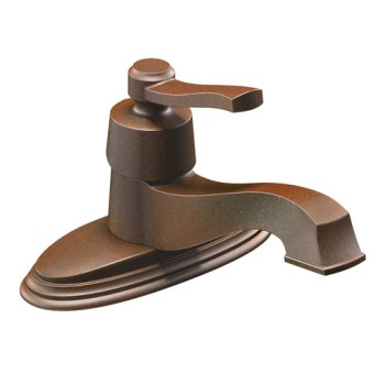 Moen CA6202ORB Rothbury Single Handle Low Arc Lavatory Faucet Oil Rubbed Bronze